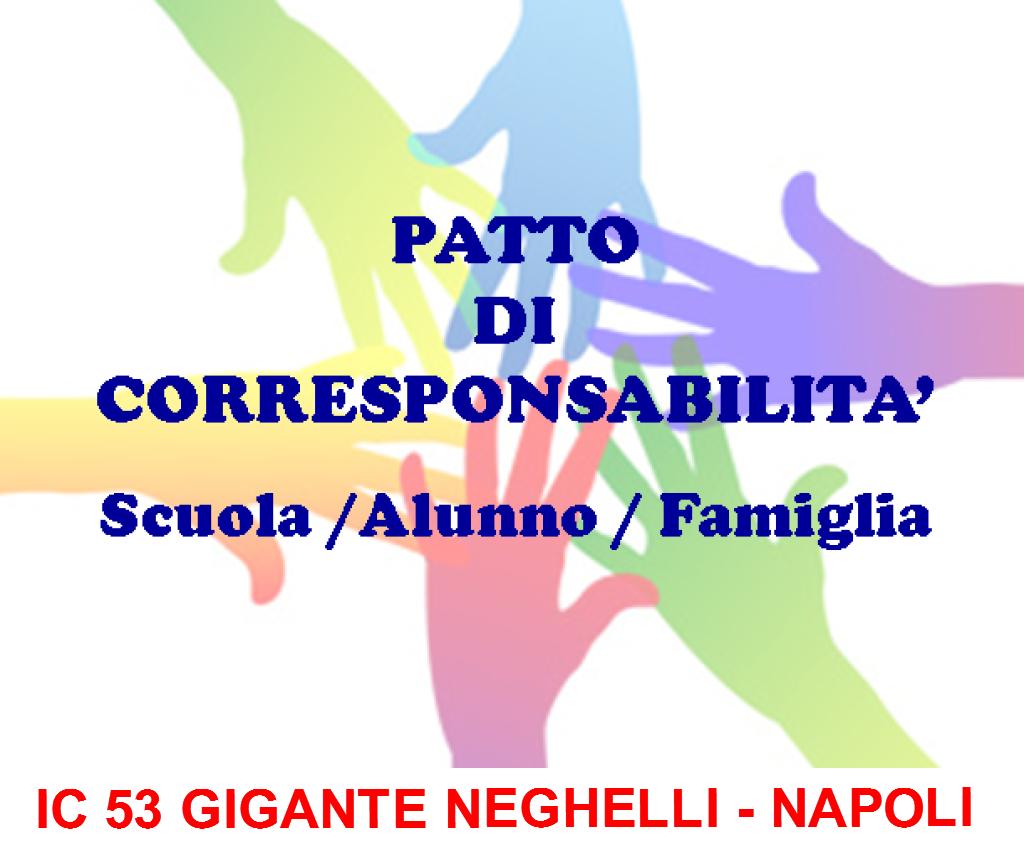 Patto educativo di corresponsabilità tra la scuola e la famiglia Scuola Secondaria I° grado