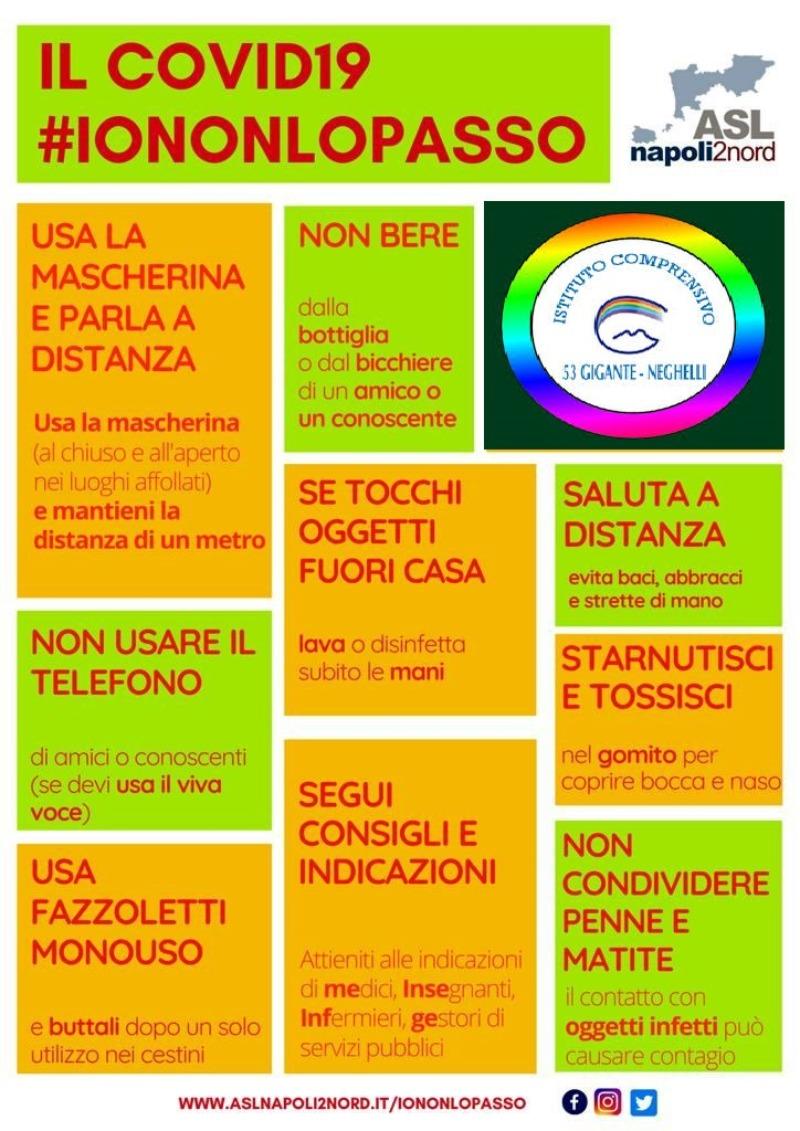 IL COVID19#IONONLOPASSO