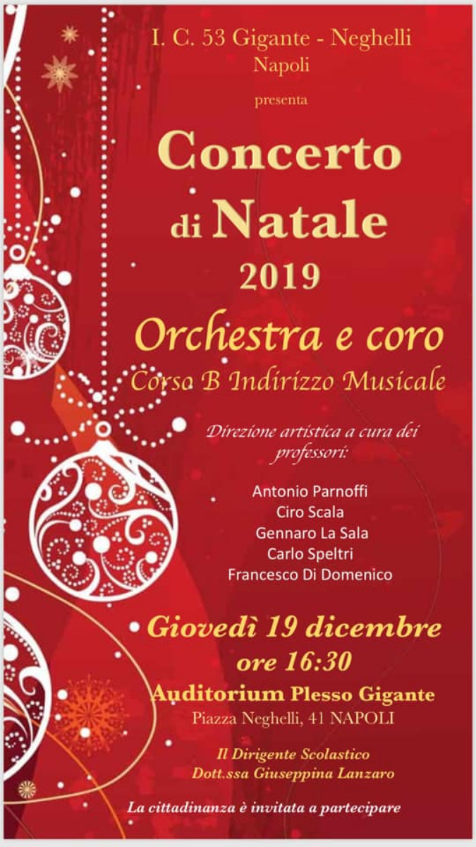 Concerto di Natale 2019 Orchestra e Coro sezione B ad indirizzo musicale Scuola Secondaria di I grad