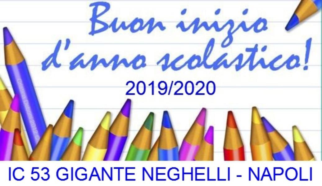 Inizio anno scolastico 2019-2020