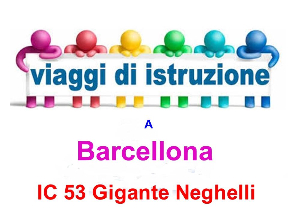 Documenti da consegnare per viaggio di  Istruzione  a Barcellona a.s. 2018/19