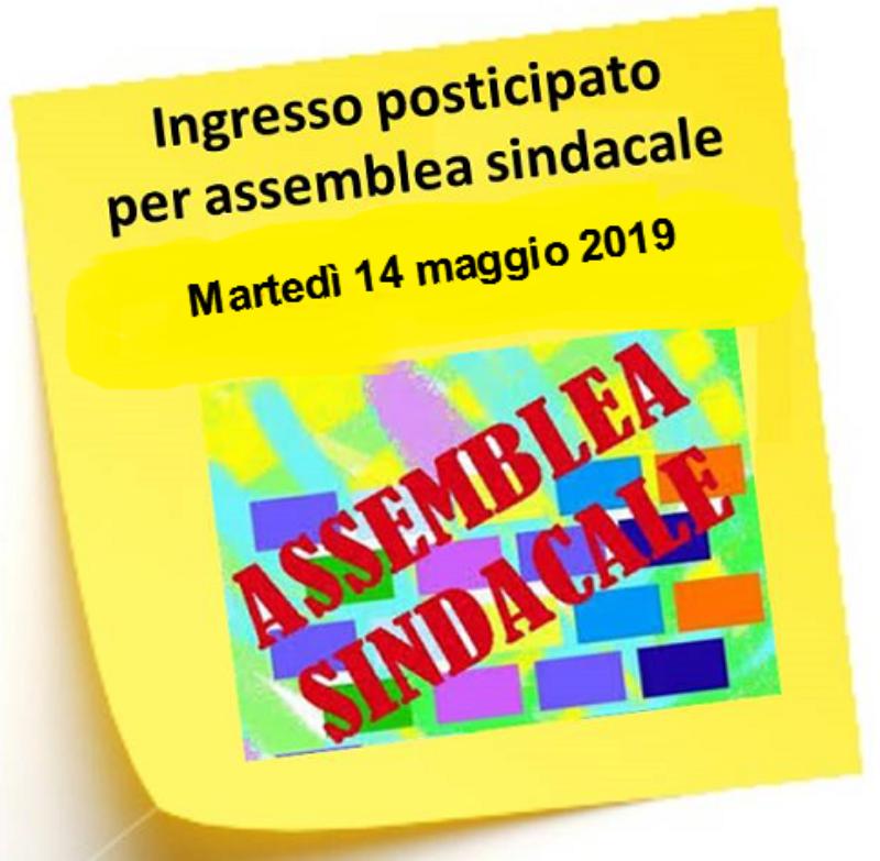 COMUNICAZIONE ENTRATA POSTICIPATA PER ASSEMBLEA...