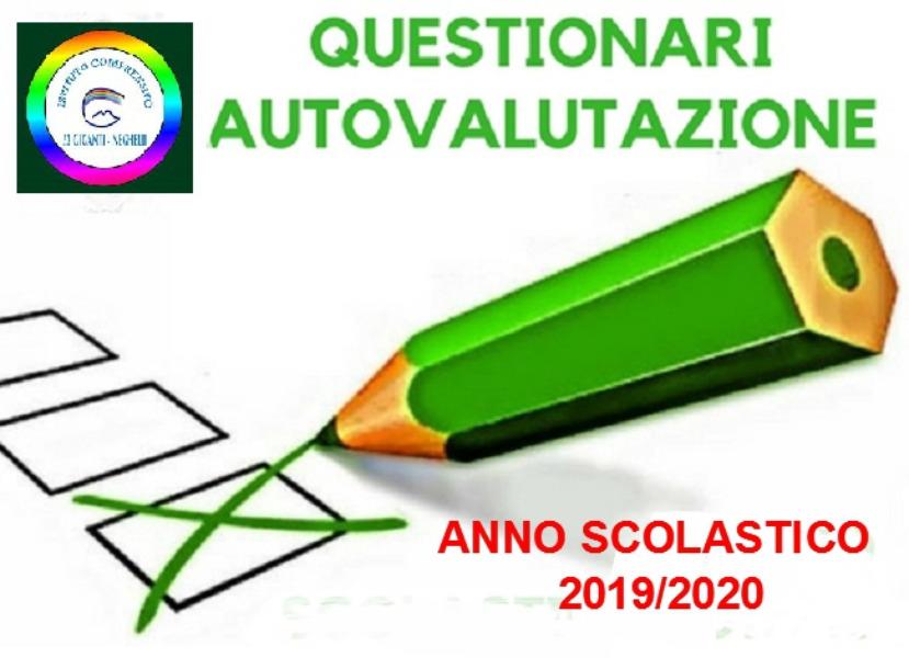 Questionari di autovalutazione per Genitori, Docenti e Alunni  a.s. 2019/2020